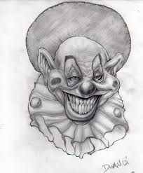 simple killer clown drawings killer clowns from outter pictureicon