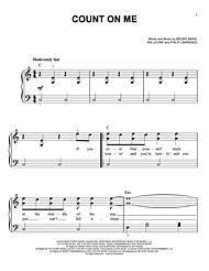 Count On Me Bruno Mars Piano Pdf 22 Best For The Of Images On Sheets