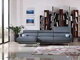 Mid Century Modern Sectional Sofas by Divani Casa Pierce Mid Century Blue Fabric Sectional Sofa