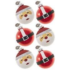celebrations by radko 6ct 2 5 glass ornaments santa with belts