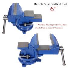 6 inch 150mm jaw clamp swivel base bench vice vise for workbench