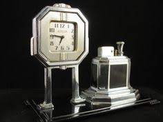 impressive figural deco ronson touch ronson 8 day clock touch tip lighter deco 1930 s clocks and