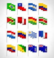 South America Flags South America All Countries Flags U2014 Stock Vector Livenart 72751333