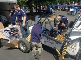 baja car baja sae oregon day 1 engine check uc davis racing baja