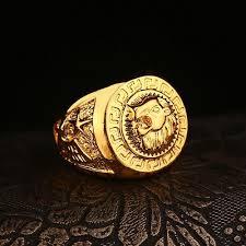king gold rings images High quality hip hop lion head ring men 39 s liion face ring 24k gp jpg