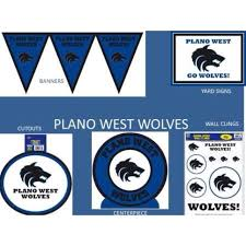 balloon delivery el paso tx plano west high school wolves plates napkins cups deco