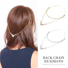 chain headband fashionletter rakuten global market headband wedding party back