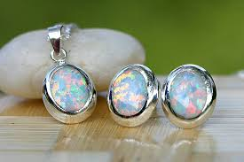 opal earrings necklace images October birthstone opal earrings stud earrings opal stud opal jpeg