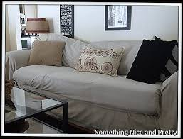 Slipcovers Made From Drop Cloths Sofa Covered With No Sew Dropcloths