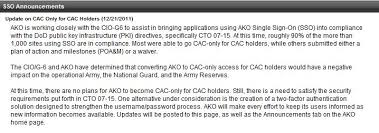 Navy Knowledge Online Help Desk Militarycac U0027s Ako Specific Problems And Solutions Page