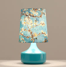 Small Table Lamps Small Home Deco Table Lamps Blue Glass Base Blue Shade With