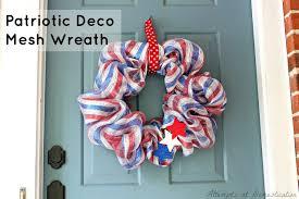 Fourth Of July Door Decorations Patriotic Deco Mesh Wreath