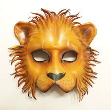 lion mask lion leather mask costume prop decor teonova by teonova on deviantart