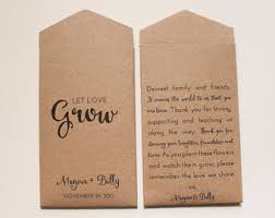 seed wedding favors seed wedding favors etsy