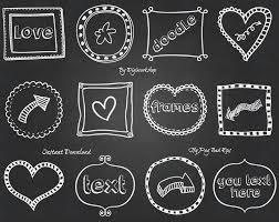 chalkboard halloween cat clear background chalkboard doodle frames clipart digital borders clip art