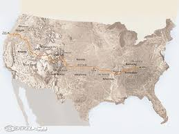 American Route Map by Riding The Trans America Trail Motorcycle Usa