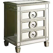3 drawer accent table monarch mirrored 3 drawer accent table staples
