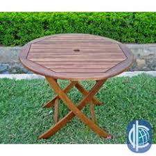 36 Inch Folding Table International Caravan Royal Tahiti Yellow Balau Wood 36 Inch