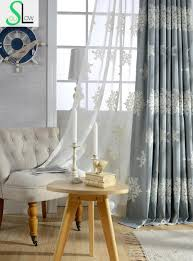 autumn winter edelweiss embroidered curtains for bedroom european