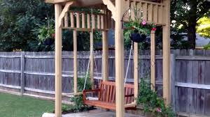 arbor swing plans backyard makeover by bj u0027s home improvement pergola swing deck