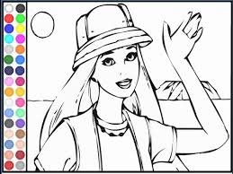 barbie coloring pages youtube safari barbie colouring games youtube kids coloring pages 18884