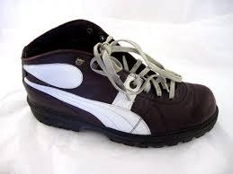 puma rudolf dassler maroon burgundy ankle boots mens shoes sz 10 5