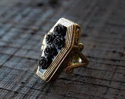 art deco skeleton ring holder images Coffin ring etsy jpg