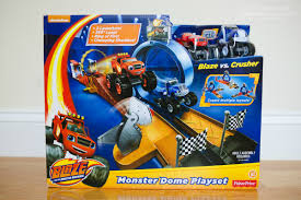 monster truck race track toys super stunts and super stem learning with blaze and the monster