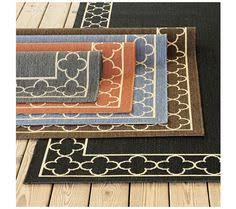 Suzanne Kasler Quatrefoil Border Indoor Outdoor Rug Bermuda Indoor Outdoor Rug Dogpatch Condo Area Inspiration