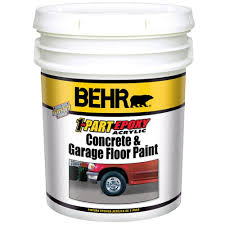behr 5 gal slate gray 1 part epoxy floor paint 90205 the home depot