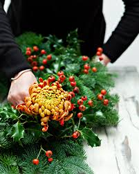 Homemade Christmas Wreaths by How To Make A Traditional Christmas Wreath