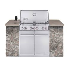 outdoor kitchen appliances built in natural gas in stainless steel