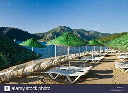 Beach Lounge Chair Umbrella Umbrellas And Beach Lounge Chairs At Marmaris Palace Hotel