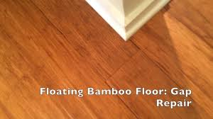 Laminate Floor Glue Floating Bamboo Floor Gap Repair Youtube