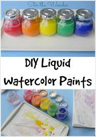 diy liquid watercolor paint stir the wonder
