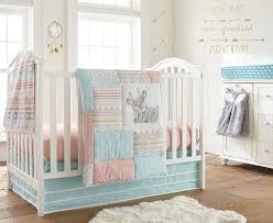 Pink And Aqua Crib Bedding Levtex Baby Little Arrow Deer 4 Piece Crib Bedding Set Ebay