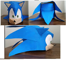 Sonic The Hedgehog Papercraft - custom sonic the hedgehog mask by sonicdavo1994 on deviantart