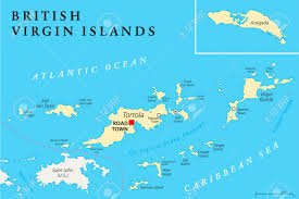 Map Caribbean by British Virgin Islands Political Map A British Overseas Territory