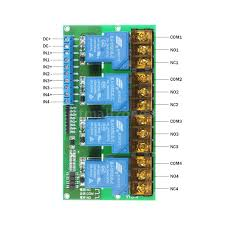 4 channel dc 12v volt 30a relay module control board optocoupler