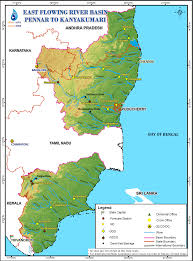 India On Map by East Flowing Rivers Between Pennar And Kanyakumari