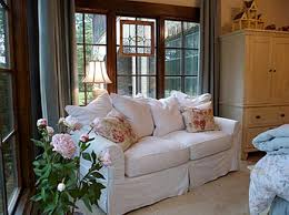Cottage Chic Slipcovers by Alabama Stone Cottage House Tour