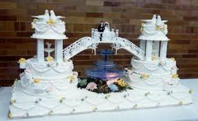 wedding cakes with fountains tiered wedding cakes with fountains unique wedding cake