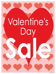 valentines sale seasonal sale signs posters 22 x28 s day sale