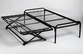 39 twin size steel hirise bed frame pop up trundle metal for metal