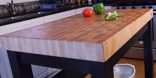 gathering blocks chopping end grain butcher block kitchen island