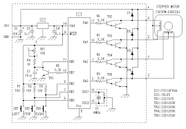 circuit and pattern drawings of stepper motor controller