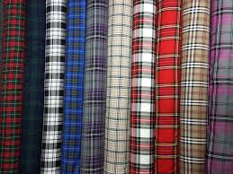 Curtain Upholstery Fabrics Tartan Plaid Check Craft Quilting Designer Curtain Upholstery
