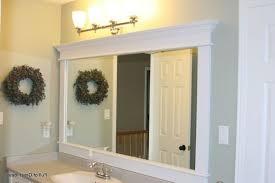 Wood Framed Bathroom Vanity Mirrors Small Bathroom Vanity Mirror Ideas Two Carved Brown Wooden Frame