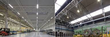 led low bay garage lighting continuous run led linear low bay light sanli led lighting