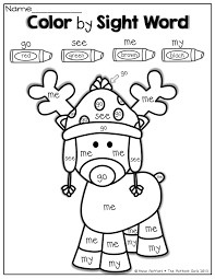color by sight word for christmas sight words pinterest